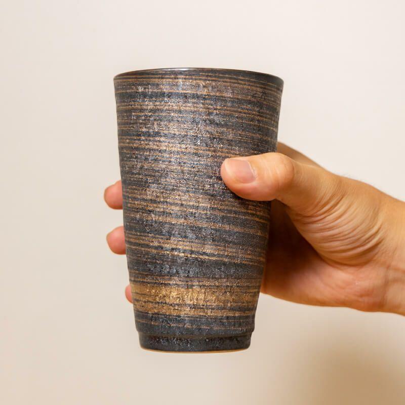 陶悦窯 結晶金銀彩 ペアカップ