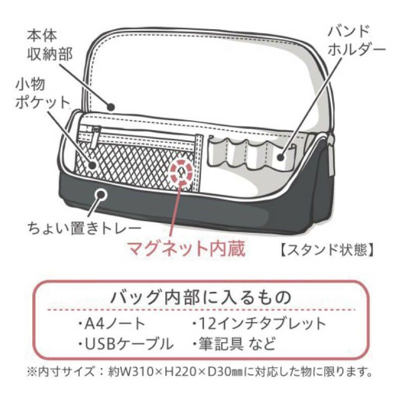 ユートリム スマ・スタ ワイドA4立つバッグインバッグ パソコン・タブレットバッグに入れられるもの