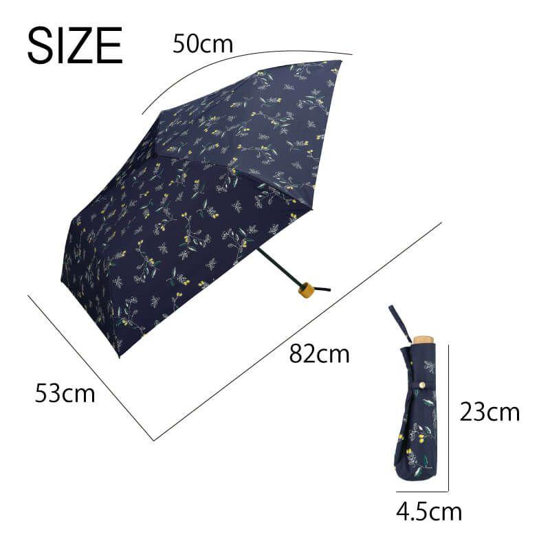 Wpc.折りたたみ日傘 遮光軽量木の実mini