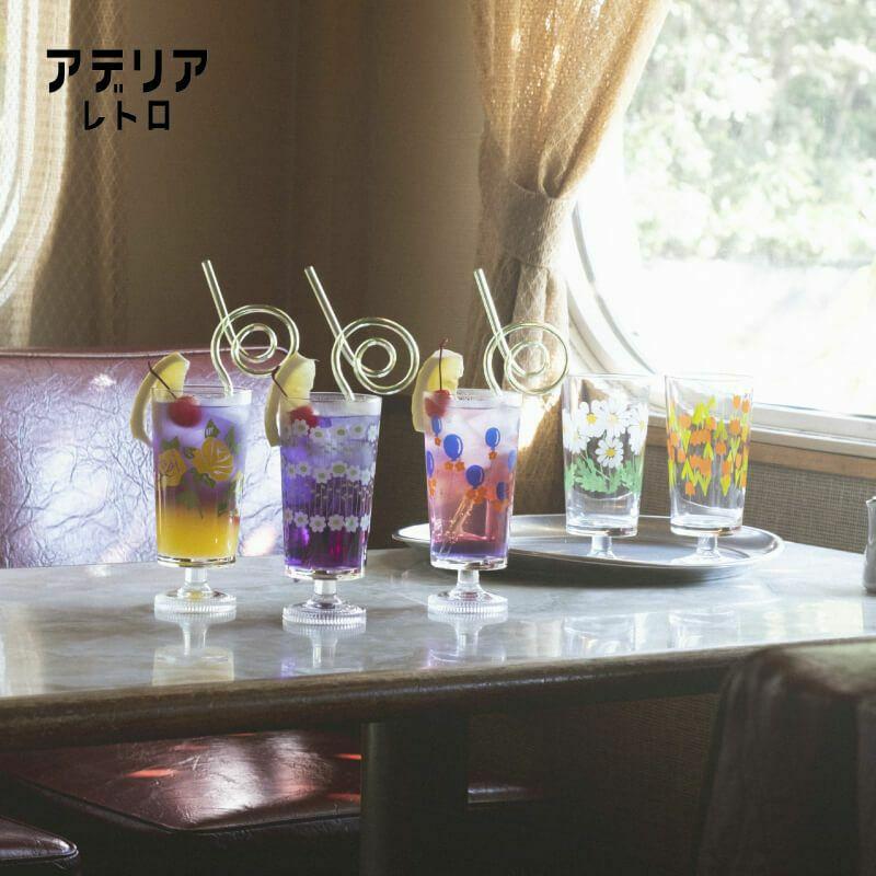 アデリアレトロ 棚付きグラス